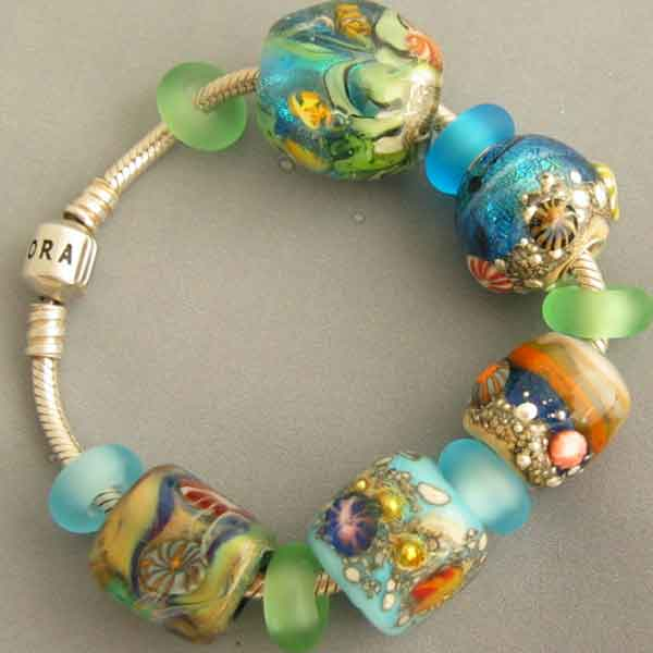 Lampwork Glass Beads For Pandora Biagi Chamilia And Trollbeads